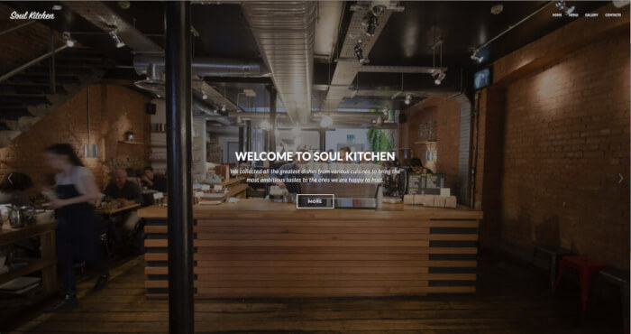 Create a restaurant website, that will attract the ones you are happy to host.